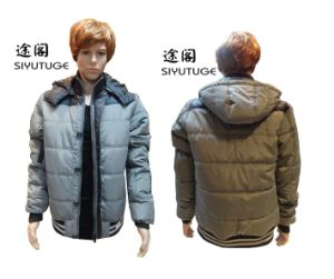 Men Winter SGS PVC Hoody Long Sleeve Fashion Jacket (SY-1537) pictures & photos