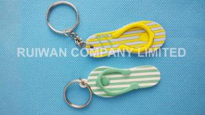 Eco-Friendly 3D PVC Slipper Keychain in Souvenir pictures & photos