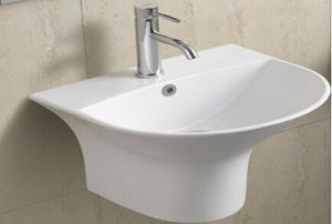 Ceramic Wall Hung Bathroom Basin (5300c) pictures & photos
