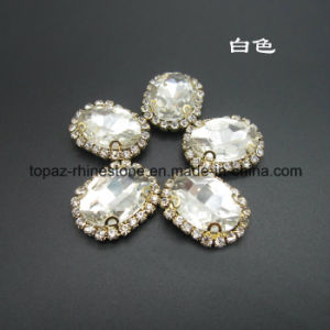 Imitation Jewelry Factory Rhinestone Sew on Jewels for Necklace (SW-Oval 13*18) pictures & photos