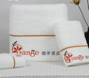 100% Cotton Luxury Embroidery Hotel Towel Set Factory pictures & photos