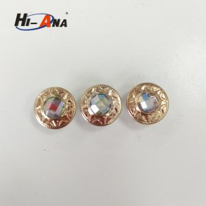 2012 Fashion Jeans Button with Acrylicstone pictures & photos