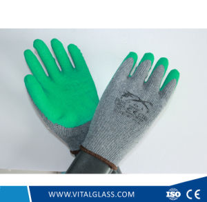 Grey/Blue Safety Latex Coated Work Glove pictures & photos