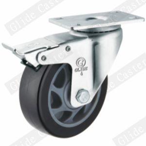 Medium Duty PU Swivel Caster (Black) G3204 pictures & photos