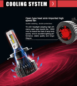 T8 H1 LED Headlight Bulbs 70W 6500K 8000lm pictures & photos