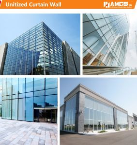 Building Exterior Facade Reflective Glass Visible Framing Aluminum Curtain Wall System with Aluminum Panel pictures & photos