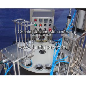 Automatic Yoghurt Cup Filling and Sealing Machine pictures & photos