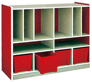 Wooden Child Furniture Toy Storage Cabinet Designs (SF-120C) pictures & photos