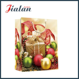 Custom 4c Printed Christmas Bells Gift Packing Shopping Paper Bag pictures & photos