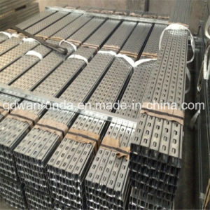 China Manufacturer Galvanized Steel C Shaped Slotted Unistrut Channel pictures & photos