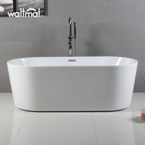 Hot Sell New Cheap Price Oval Acrylic Soaking Bathtub Oval Narrow Rim  Bathtub