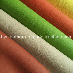Microfiber PU Leather for Shoes, Car Seat, Furniture Hw-563 pictures & photos