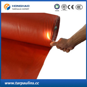 High Quality Fiber Glass Fireproof PVC Tarpaulin Sheet pictures & photos