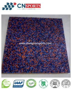 Laminated Moving Flooring Made of EPDM Particles Mixed with PU Adhesive pictures & photos