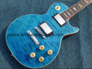 Quilted Maple Top Real Abalone Inlay Seafoam Les Guitarra Lp Standard Electric Guitar pictures & photos