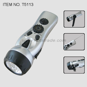 Dynamo 3 LED Flashlight with FM / Am Radio (T5113) pictures & photos