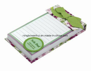 Custom High Quality Glue Bind Notepad with Ribbon pictures & photos