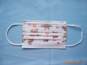 for Japan Disposable Non Woven Printed Face Mask pictures & photos