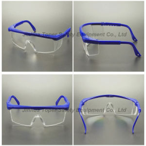 Clear Lens and Blue Frame Safety Glasses (SG100) pictures & photos