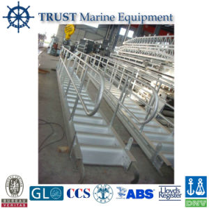 Marine Fixed and Curved Tread Aluminum Accommodation Ladder Price pictures & photos