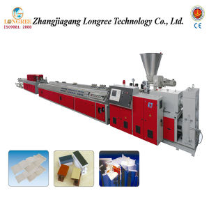 Plastic PVC Skirting Extrusion Line/PVC Panel Production Line/PVC Profile Extruder pictures & photos