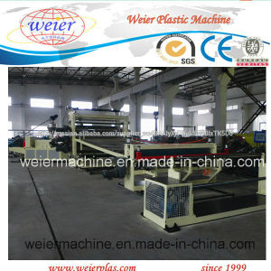 PVC Wide Floor Leather/Waterproof Rolls Extrusion Line pictures & photos