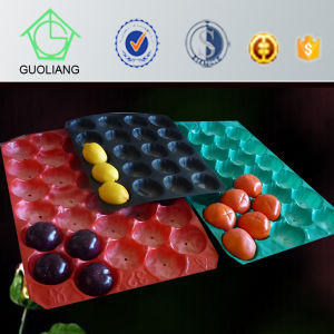 Vacuum Formed Blister Packaging Different Count Plastic Fruit Cavity Tray for Apple Peach pictures & photos