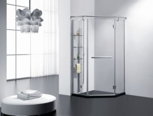 8mm Toughten Glass Shower Cabin\ Stainless Steel Shower Enclsoure\ Simple Shower Cabin Bathroom pictures & photos