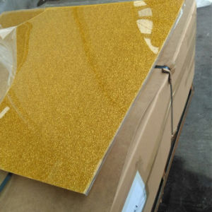 Fabric Golden Acrylic Sheet for Decoration pictures & photos