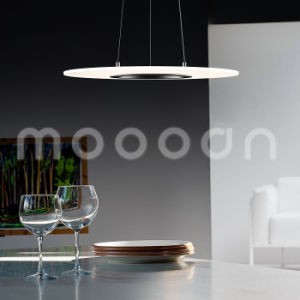 Modern UFO Aluminum Ultra Slim Clear Round Pendant Lamp with Remote Controller