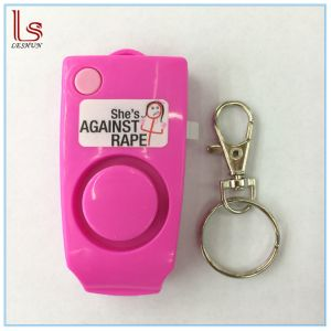 Portable 120dB Anti Lost Alarm Personal Safety Alarm Pink Keychain pictures & photos