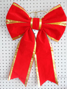 Handmade Velvet Red Christmas Bow Wholesale pictures & photos