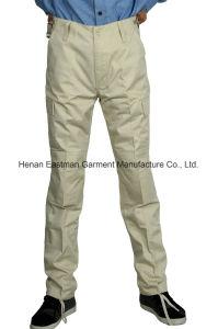 Adjustable Waist Casual Pants T/C Khaki Long Trousers pictures & photos