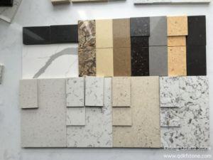 Cement Grey Prefab Solid Surface of Quartz Stone Slab pictures & photos