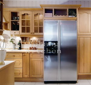 Hot Selling Solid Wood Kitchen Cabinet Home Furniture #2012-101 pictures & photos