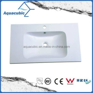 Factory Clean Bathroom Wash Basin Sink Polymarble Basin pictures & photos