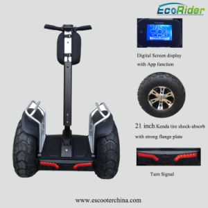 Electric Vehicle Brushless 4000 Watt Motor Double Battery Self Balancing Smart Scooter with APP Function pictures & photos