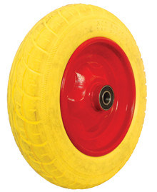 PU Wheels for Wheel Barrow Hand Trolley Tool Cart PU1410