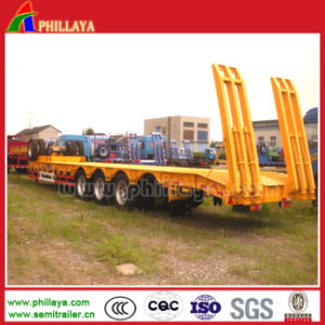 Utility Lowbed Trailer with Container Twist Lock pictures & photos