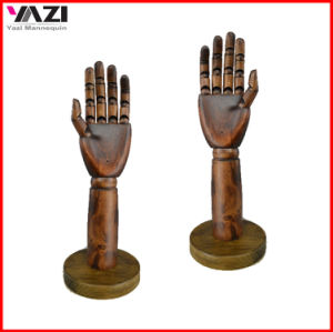 Solid Wood Hand Dummy with Round Baseplate for Sale pictures & photos