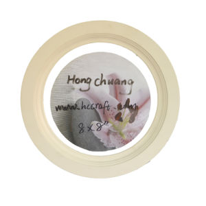 Round Wooden Photo Frame for Home Deco pictures & photos