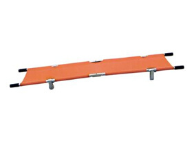 Single Fold Pole Stretcher with 4 Wheels with CE and ISO pictures & photos