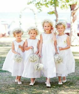 Organza Sleeveless Scoop Flower Girl Dress Patterns (MI 3549)