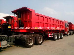 China Triaxial Rear Dump Semi Trailer 45ton Tipper Trailer pictures & photos