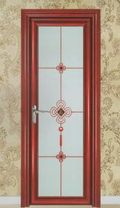 Cheap High Quality Aluminum Casement Door with Tinted Glass for Kitchen/Bathroom (ACD-026) pictures & photos