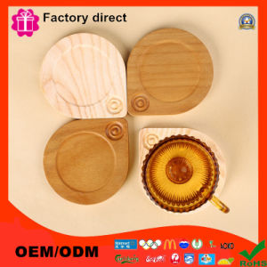 Custom Shapes Advertising Wooden Cup Mat Pad pictures & photos