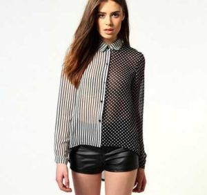 OEM Fashion Women Clothing New Design Chffion Blouse pictures & photos