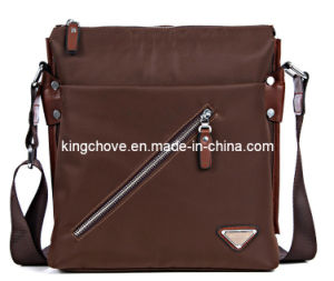 Newly Fashion Brown Nylon with PU Trimming Men Bag (KCM02) pictures & photos