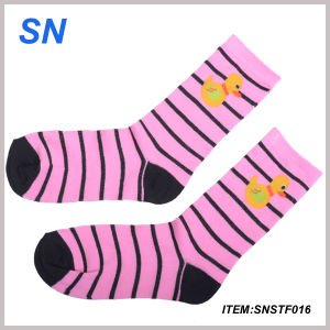 Comfortable High Quality Cotton Socks for Women (SNSTF016) pictures & photos