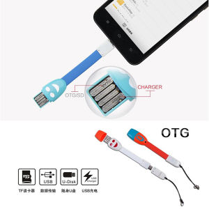 Android Phone Micro USB Data Cable 4 in 1 OTG Card Reader pictures & photos